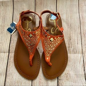 Jessica Simpson | Burnt Orange Rhinestone Sandals